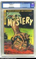 Golden Age (1938-1955):Horror, Mister Mystery #13 (Aragon Magazines, Inc., 1953) CGC VG/FN 5.0Cream to off-white pages. Classic Bernard Baily cover on thi...
