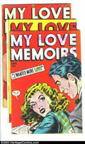 Golden Age (1938-1955):Romance, My Love Memoirs #10-12 Group (Fox Features Syndicate, 1950)Condition: Average GD/VG. This lot consists of issues #10, 11, a...(Total: 3 Comic Books Item)
