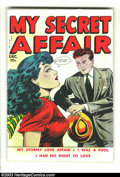 Golden Age (1938-1955):Romance, My Secret Affair #1 (Fox Features Syndicate, 1949) Condition: GD.Art by Harry Harrison and Wally Wood. Overstreet 2003 GD 2...