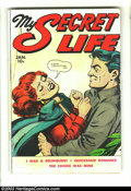Golden Age (1938-1955):Romance, My Secret Life #25 (Fox Features Syndicate, 1950) Condition: VG.Sleazy Fox romance. Overstreet 2003 VG 4.0 value = $18....