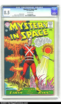 Silver Age (1956-1969):Science Fiction, Mystery in Space #82 (DC, 1963) CGC VF+ 8.5 Off-white pages. Gardner Fox story. Carmine Infantino, Murphy Anderson, and Sid ...