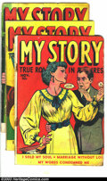 Golden Age (1938-1955):Romance, My Story 8-10 Group (Fox, 1949-50) Condition: Average GD. This lotconsists of issues #8, 9, and 10. Issues #9 and 10 have W...(Total: 3 Comic Books Item)