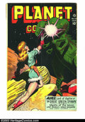Golden Age (1938-1955):Science Fiction, Planet Comics #47 (Fiction House, 1947) Condition: GD/VG. Coolthree-headed dinosaur cover. Interior art is by Murphy Anders...
