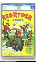 Golden Age (1938-1955):Western, Red Ryder Comics #7 (Dell, 1942) CGC FN- 5.5 Off-white pages. Overstreet 2003 FN 6.0 value = $102....
