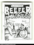 """Bronze Age (1970-1979):Alternative/Underground, Reefer Madness nn (No Publisher, 1972). An """"off-the-cuff"""" mini-comic underground. Overstreet does not list undergrounds at t..."""