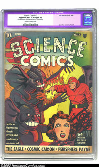 Science Comics #3 (Fox, 1940) CGC Apparent VG+ 4.5 Slight (P) Cream to off-white pages. Classic Lou Fine cover; George T...