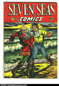 Seven Seas Comics #2 (Universal Phoenix Feature, 1946) Condition: GD. Swashbuckler cover. Matt Baker art. Overstreet 200...