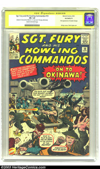 Sgt. Fury and His Howling Commandos #10 Stan Lee Signature Series (Marvel, 1964) CGC FR 1.0 Cream to off-white pages. Si...