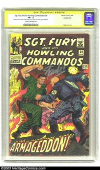 Sgt. Fury and His Howling Commandos #29 Stan Lee Signature Series (Marvel, 1966) CGC PR .5. Stan Lee signed in silver in...