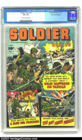 Golden Age (1938-1955):War, Soldier Comics #4 Palo Alto pedigree (Fawcett, 1952) CGC VF+ 8.5Off-white to white pages. Comes with certificate of authent...