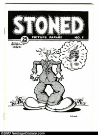 Stoned Picture Parade #1 (San Francisco Comic Book Company, 1975) Condition: VF. Digest-size edition, with art by R. Cru...