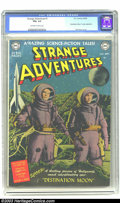"""Golden Age (1938-1955):Science Fiction, Strange Adventures #1 (DC, 1950) CGC FN+ 6.5 Off-white to whitepages . Adaptation of """"Destination Moon"""". Photo cover from m..."""