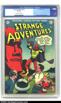 Golden Age (1938-1955):Science Fiction, Strange Adventures #16 (DC, 1952) CGC VF 8.0 Off-white to whitepages. Easter Island cover. Murphy Anderson, Carmine Infanti...