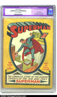Superman #1 (DC, 1939) CGC Apparent VF- 7.5 Extensive (P) Cream to off-white pages. A truly historical book, Superman #1...