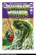 Bronze Age (1970-1979):Horror, Swamp Thing #1 (DC, 1972) Condition: FN/VF. First issue of theSwamp Thing's own series, with origin. Berni Wrightson cover ...