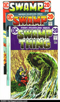 Bronze Age (1970-1979):Horror, Swamp Thing #1-7 Group (DC, 1972-73). This lot consists of issues#1 (VG-); 2 (GD+); 3 (VF+); 4 (VG); 5 (VF-); 6 (VF+); and ...(Total: 7 Comic Books Item)