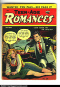 "Golden Age (1938-1955):Romance, Teen-Age Romances #38 (St. John, 1954) Condition: VG-. Suggestive cover. Matt Baker art. There is a 1"" spine split. Overstre..."