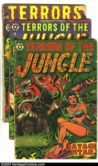 Terrors of the Jungle Group (Star, 1952-54). This lot consists of issues #18 (FR, complete); 21 (GD-); 5 (FR, 1/4 page o...