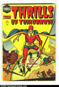 Thrills of Tomorrow #19 (Harvey, 1955) Condition: GD. This book is a contender for the title of earliest Silver Age supe...