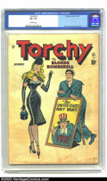 Golden Age (1938-1955):Miscellaneous, Torchy #1 (Quality, 1949) CGC VG- 3.5 Off-white pages. Bill Ward cover; Gill Fox interior art. Overstreet 2003 VG 4.0 value ...