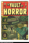 Golden Age (1938-1955):Horror, Vault of Horror Group (EC, 1951-53). Two issues -- #21 (Condition:FR/GD; complete, tape on cover, wrinkled), and #33 (Condi...(Total: 2 Comic Books Item)
