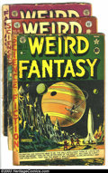"""Golden Age (1938-1955):Science Fiction, Weird Fantasy Group (EC, 1951-53) Condition: Average FR/GD. Threeissues -- #17 (5) (entire spine taped, with 1' x 1/2"""" piec...(Total: 3 Comic Books Item)"""