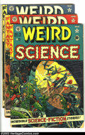 "Golden Age (1938-1955):Horror, Weird Science Group (EC, 1951-52) Condition: Average GD-. Threeissues -- #9 (color touch on cover, 3/8"" piece off corner); ...(Total: 3 Comic Books Item)"