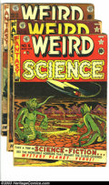 Golden Age (1938-1955):Horror, Weird Science Group (EC, 0) Condition: Average GD-. Three issues --#6; #8 (spine taped, tape on inside front cover); and #1... (Total:3 Comic Books Item)