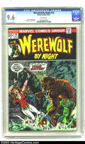 Bronze Age (1970-1979):Horror, Werewolf by Night #10 (Marvel, 1973) CGC NM+ 9.6 White pages. TomSutton art. Overstreet 2003 NM 9.4 value = $22....