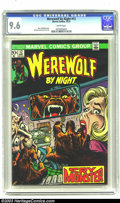 Bronze Age (1970-1979):Horror, Werewolf by Night #12 (Marvel, 1973) CGC NM+ 9.6 White pages. GilKane art. Overstreet 2003 NM 9.4 value = $16....