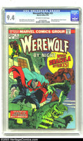 Bronze Age (1970-1979):Horror, Werewolf by Night #15 (Marvel, 1974) CGC NM 9.4 Off-white to whitepages. Classic cover by Mike Ploog. Story continued from ...