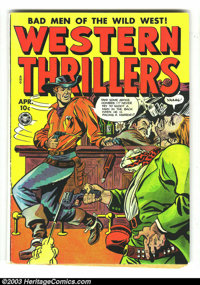 Western Thrillers #5 (Fox Features Syndicate, 1949) Condition: VG+. Butch Cassidy appearance. Matt Baker-ish art. Overst...