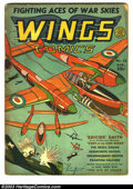 Golden Age (1938-1955):Adventure, Wings Comics #12 (Fiction House, 1941) Condition: GD-. Gene Fawcette cover art. Cover completely split and taped from inside...