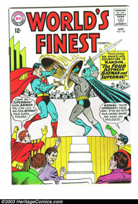 World's Finest Comics #143 (DC, 1964) Condition: VF+. Starring Superman and Batman. First Mailbag letter column. Curt Sw...