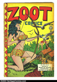 Zoot Comics #14 (Fox Features Syndicate, 1948) Condition: VG-. This issue was used in Frederick Wertham's Seduction of t...