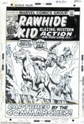 Original Comic Art:Covers, Larry Lieber - Original Cover Art for The Rawhide Kid #114 (Marvel,1973). Commanches behind him... sheer cliffs ahead... if...