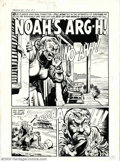 "Original Comic Art:Complete Story, Howard Nostrand - Original Art for Tomb of Terror #10, Complete5-page Story, ""Noah's Arg-h!"" (Harvey, 1953). A tongue-in-ch..."