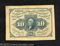 Fractional Currency:First Issue, First Issue 10c Face Narrow Specimen, Fr-1243SP, Crisp ...