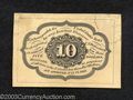 Fractional Currency:First Issue, First Issue 10c Back Narrow Specimen, Fr-1243SP, Crisp ...