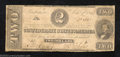Confederate Notes:1862 Issues, 1862 $2 Judah P. Benjamin, T-54, Very Good. This note saw over ...