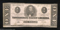 Confederate Notes:1863 Issues, 1863 $1 Clement C. Clay, T-62, Crisp Uncirculated, mounting ...
