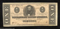 Confederate Notes:1864 Issues, 1864 $1 Clement C. Clay, T-71, Crisp Uncirculated. A little ...