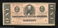 Confederate Notes:1864 Issues, 1864 $1 Clement C. Clay, T-71, Very Fine+. The red background ...