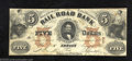 Obsoletes By State:Michigan, 1853 $5 The Erie and Kalamazoo Rail Road Bank, Adrian, MI, ...