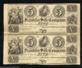 Obsoletes By State:Ohio, Unsevered Pair 18__ $5-$5 The Franklin Silk Company, Franklin, ...(2 notes)