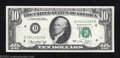 Error Notes:Ink Smears, 1974 $10 Federal Reserve Note, Fr-2022-D, Very Fine-Extremely ...