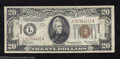 Small Size:World War II Emergency Notes, 1934-A $20 Hawaii Federal Reserve Note, Fr-2305, AU. This ...
