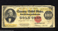 Large Size:Gold Certificates, 1922 $100 Gold Certificate, Fr-1215, Very Good-Fine. This type ...