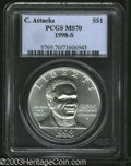 Modern Issues: , 1998-S Black Patriots Silver Dollar MS70 PCGS. ...