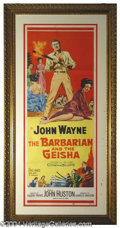 Autographs, Barbarian and the Geisha John Wayne Framed Poster